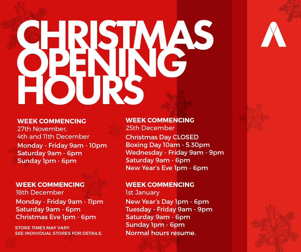 Christmas Opening Hours.Christmas Opening Hours Web Featured Abbey Centre